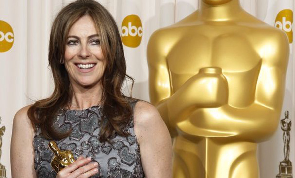 Kathryn Bigelow with Oscar