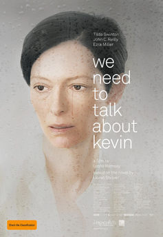 We Need to Talk About Kevin poster with Tilda Swinton