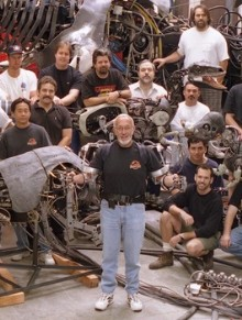 Stan Winston and his FX team