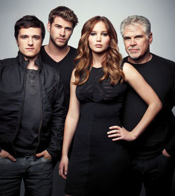 Gary Ross with Hunger Games Cast