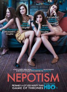 Girls, nepotism poster