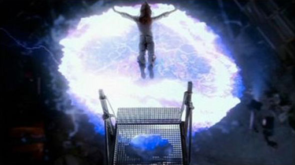 Buffy jumping in Season 5 finale