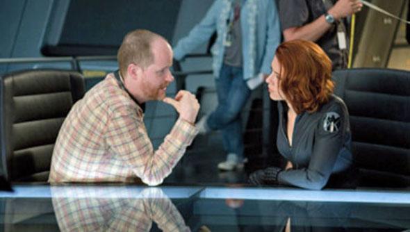 Joss on Avengers set