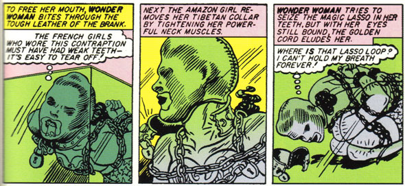 Wonder Woman in bondage gear
