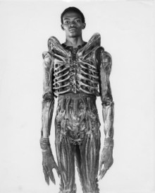 Bojali Badejo in Alien costume
