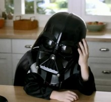 Darth Vader in Volkswagen super bowl ad