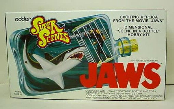 Jaws model in a bottle kit