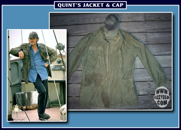 Jaws Quint's original jacket and cap