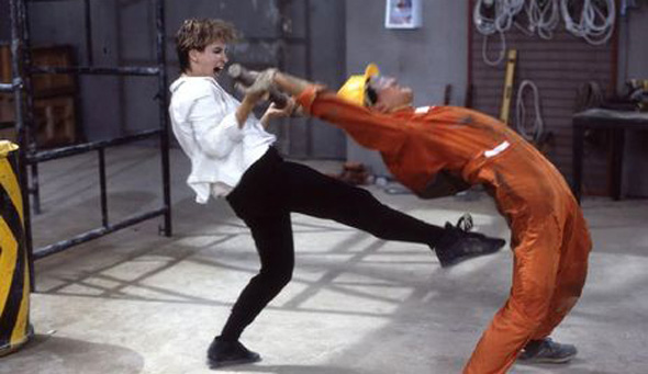 Cynthia Rothrock fighting still