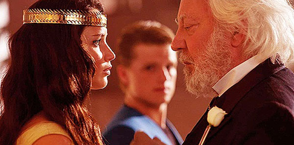 Katniss and President Snow