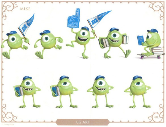 Monsters U Character art Mike