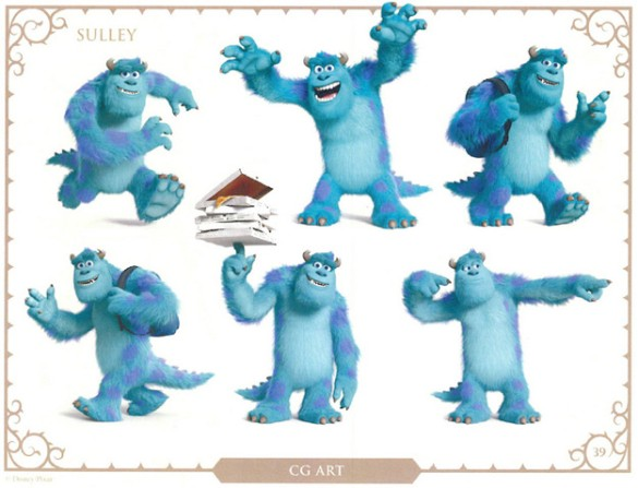 Monsters U character art Sulley