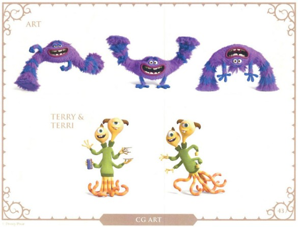 Monsters U character art