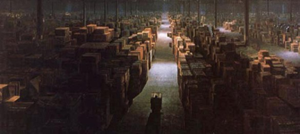 Raiders of the lost Ark storage room