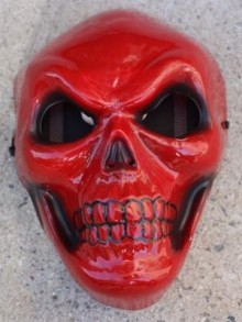 Red Slkull mask