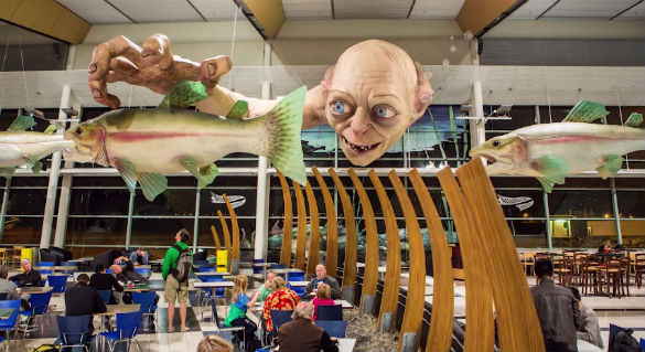 Gollum at Welling Airport in New Zealand