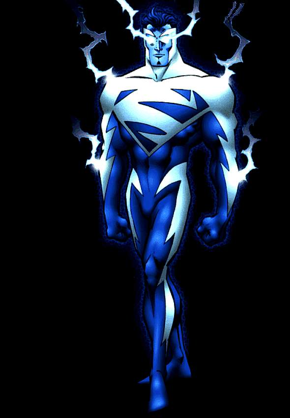 Superman Blue (Story Arc) (): The second incarnation of Superman Red and Superman Blue began in a storyline. While temporarily deprived of the solar energy required to give him powers, Superman had developed energy-based abilities, which eventually forced him to adopt a blue and white containment suit to prevent the energy dispersing.