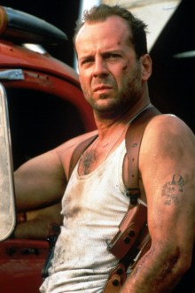 Bruce Willis as John McClane in Die Hard