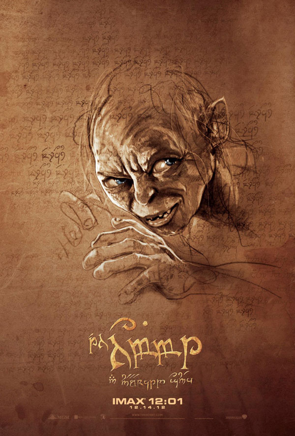 The Hobbit Midnight IMAX Poster - Gollum