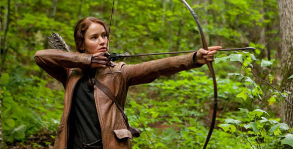 Katniss with her bow