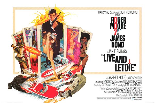 live and let die poster 007 By the Numbers: Every James Bond Statistic You Never Knew You Needed to Know