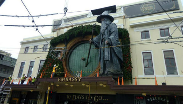 The Hobbit: An Unexpected Journey -- Gandalf at The Embassy Theater, Wellington, New Zealand