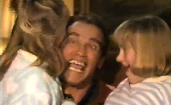 arnie Arnold Schwarzeneggers Vintage A Very Special Christmas Party Video