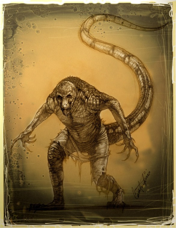 Spider-Man 2 lizard concept art 2