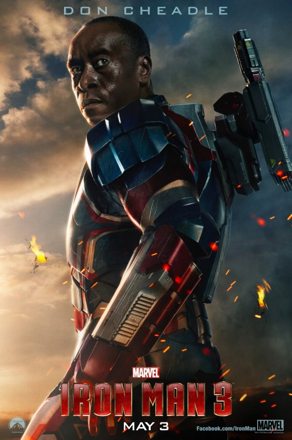 Iron Man 3 Don Cheadle Poster 570x858 Comics on Film: Heres Everything We Know About Avengers: Age of Ultron Now That Its Filming