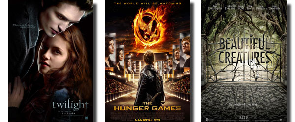 Twilight, Hunger Games, and Beautiful Creatures Posters