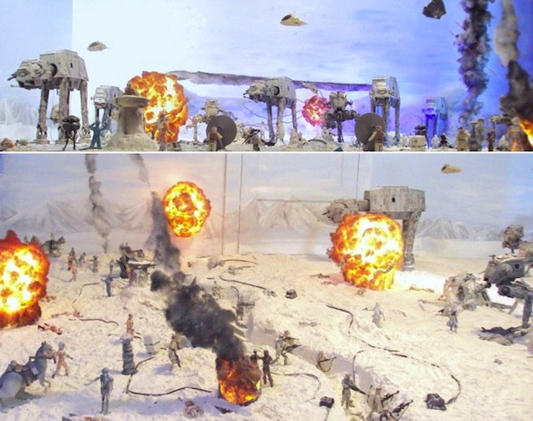 starwars Fan Made: Star Wars Nut Turns His Entire Living Room into Massive Diorama
