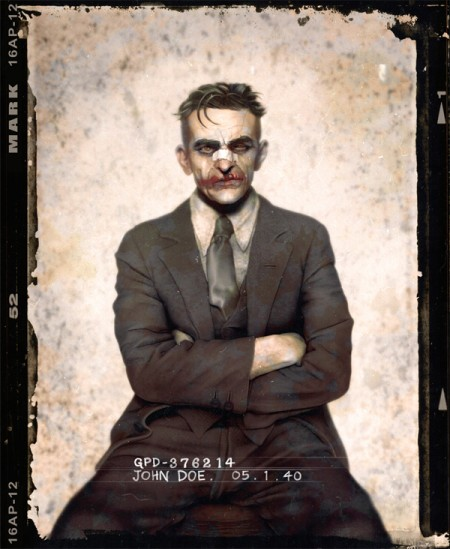 Batman Joker mugshot