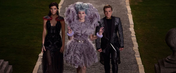 Katniss, Effie, and Peeta in Catching Fire