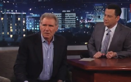 fordkimmel Watch Harrison Ford Briefly Channel Han Solo During Jimmy Kimmel Live