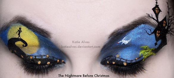 Meet the Woman Who Paints Memorable Movie Scenes on Her Eyelids...