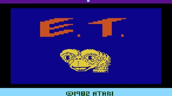 E.T. Atari title screen