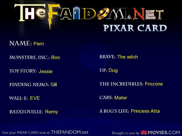 Perri's Pixar Card