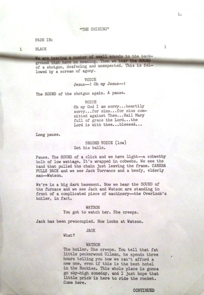 Shining script page