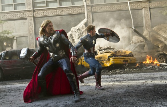 The Avengers Thor and Cap America