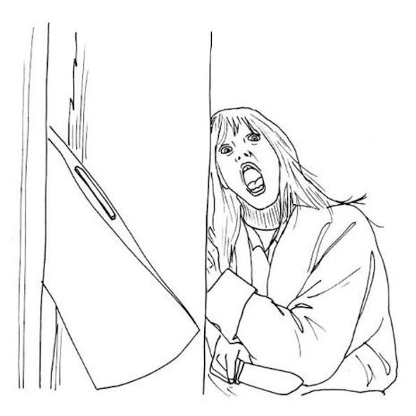 Horror movie coloring pages sketch coloring page Horror coloring book for adults