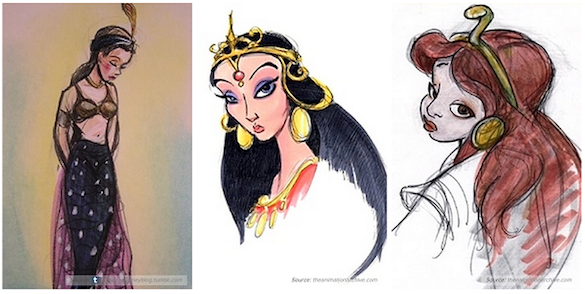 Disney Character Concept Design : Early sketches reveal what your favorite disney characters