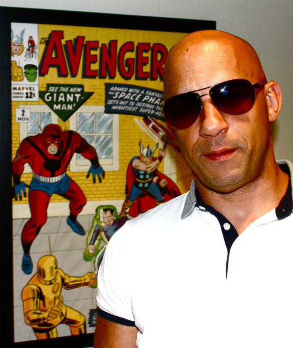 Vin Diesel at Marvel