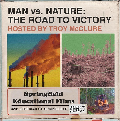 Simpsons fake movie poster man vs nature