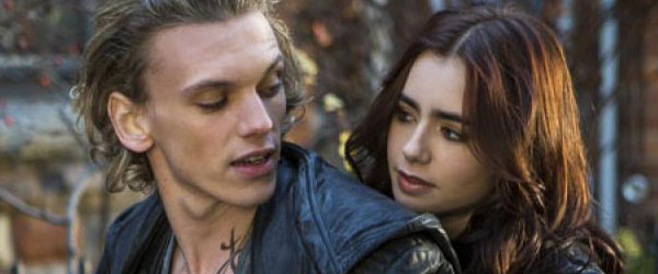 Jamie Campbell Bower and Lily Collins in The Mortal Instruments