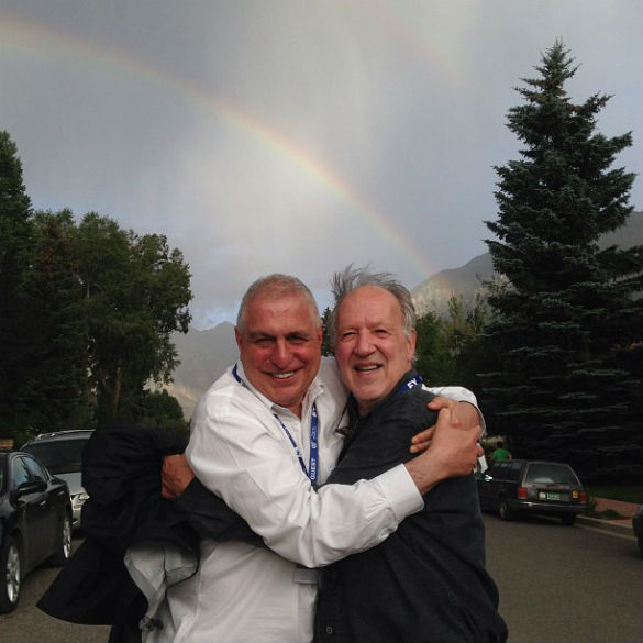 Errol Morris and Werner Herzog at Telluride Film Festival 2013 - by Tom Quinn