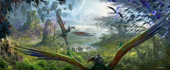 Avatar banshee ride concept art