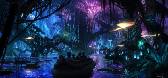 Avatar boat ride concept art