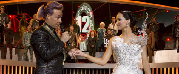 Stanley Tucci and Jennifer Lawrence in Catching Fire