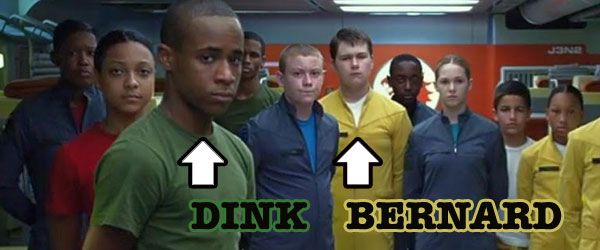 Khylin Rhambo as Dink and Conor Carroll as Bernard