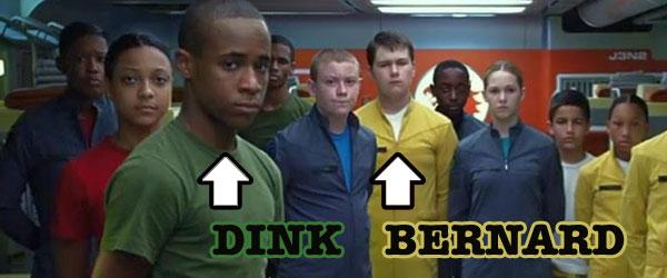 Khylin Rhambo as Dink and Conor Carroll as Bernard